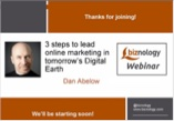 Webinar excerpt: 3 Steps to Lead Online Marketing on Tomorrow's Digital Earth